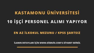 Kastamonu Üniversitesi 10 İşçi Personel Alımı