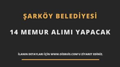 Şarköy Belediyesi 14 Memur Alımı