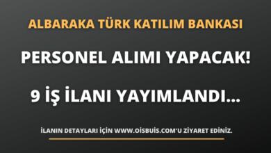 Albaraka Türk Katılım Bankası Personel Alımı Yapacak! 9 İş İlanı Yayımlandı...