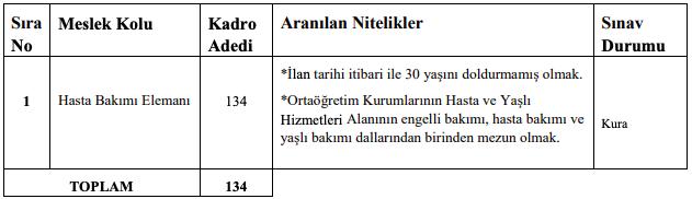 Ankara Üniversitesi 134 Hasta ve Yaşlı Bakım Elemanı Alımı Detayları