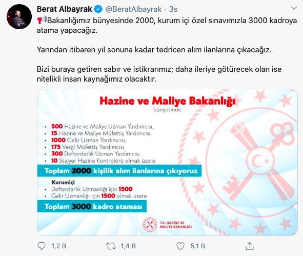 Bakan Açıkladı: Hazine ve Maliye Bakanlığı 5 Bin Kamu Personeli Alımı Yapacak