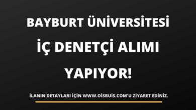 Bayburt Üniversitesi Rektörlüğü İç Denetçi Alımı Yapıyor!