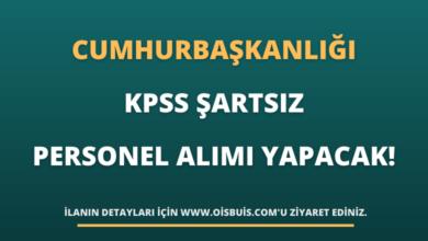 Cumhurbaşkanlığı KPSS Şartsız Personel Alımı Yapacak!