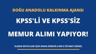 Doğu Anadolu Kalkınma Ajansı KPSS'li Ve KPSS'siz Memur Alımı Yapıyor!