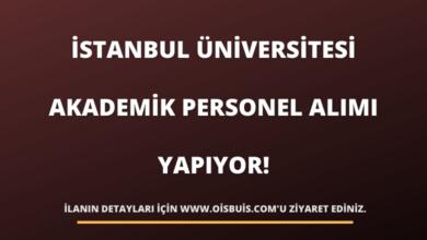 İstanbul Üniversitesi Akademik Personel Alımı Yapıyor!