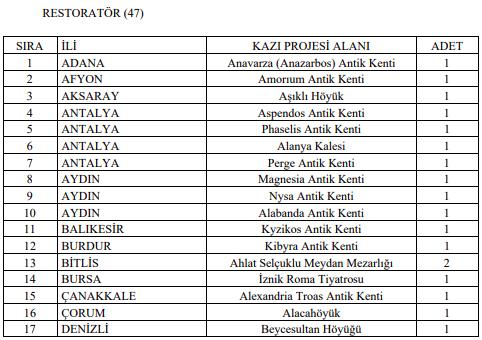 Kültür ve Turizm Bakanlığı KPSS'li KPSS'siz 248 Kamu Personeli Alımı Detayları 4