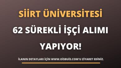 Siirt Üniversitesi 62 Sürekli İşçi Alımı Yapıyor!