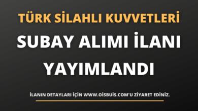 Türk Silahlı Kuvvetleri Subay Alımı İlanı Yayımlandı