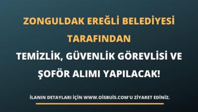 Zonguldak Ereğli Belediyesi Tarafından Temizlik, Güvenlik Görevlisi ve Şoför Alımı Yapılacak!