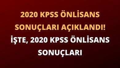 2020 KPSS Önlisans Sonuçları Açıklandı! İşte, 2020 KPSS Önlisans Sonuçları