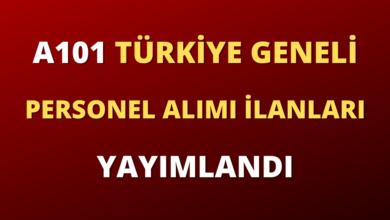 A101 Türkiye Geneli Personel Alımı İlanları Yayımlandı