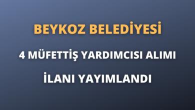 Beykoz Belediyesi 4 Müfettiş Yardımcısı Alımı İlanı Yayımlandı