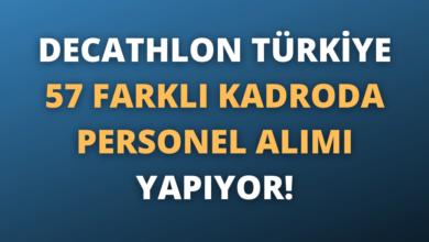 Decathlon Türkiye 57 Farklı Kadroda Personel Alımı Yapıyor!