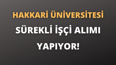 Hakkari Üniversitesi Sürekli İşçi Alımı Yapıyor!