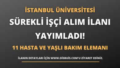 İstanbul Üniversitesi Rektörlüğü Sürekli İşçi Alım İlanı Yayımladı!