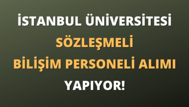 İstanbul Üniversitesi Sözleşmeli Bilişim Personeli Alımı Yapıyor!