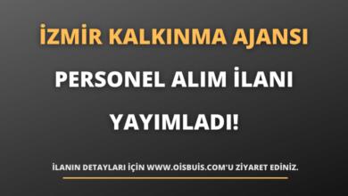 İzmir Kalkınma Ajansı Personel Alım İlanı Yayımladı!