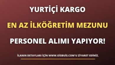 Yurtiçi Kargo En Az İlköğretim Mezunu Personel Alımı Yapıyor!