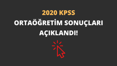 2020 KPSS Ortaöğretim Sonuçları Açıklandı!