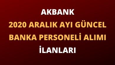 Akbank 2020 Aralık Ayı Güncel Banka Personeli Alım İlanları