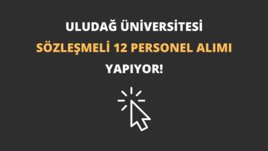 Bursa Uludağ Üniversitesi Sözleşmeli 12 Personel Alımı Yapıyor!