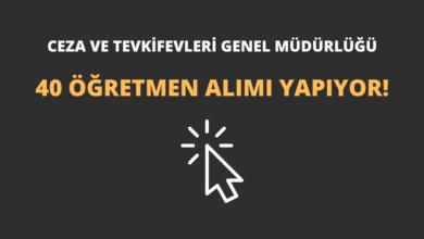 Ceza ve Tevkifevleri Genel Müdürlüğü 40 Öğretmen Alımı Yapıyor!