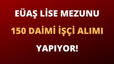EÜAŞ Lise Mezunu 150 Daimi İşçi Alımı Yapıyor!