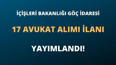 İçişleri Bakanlığı Göç İdaresi 17 Avukat Alımı İlanı Yayımlandı!