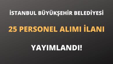 İstanbul Büyükşehir Belediyesi Sözleşmeli 25 Personel Alımı İlanı Yayımlandı!