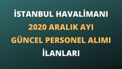 İstanbul Havalimanı 2020 Aralık Ayı Güncel Personel Alımı İlanları