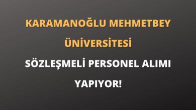 Karamanoğlu Mehmetbey Üniversitesi Sözleşmeli Personel Alımı Yapıyor!