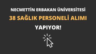 Necmettin Erbakan Üniversitesi 38 Sağlık Personeli Alımı Yapıyor!