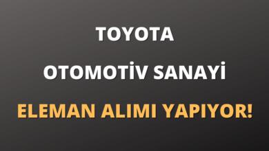 Toyota Otomotiv Sanayi Eleman Alımı Yapıyor!