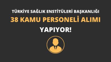 Türkiye Sağlık Enstitüleri Başkanlığı 38 Kamu Personeli Alımı Yapıyor!