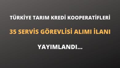 Türkiye Tarım Kredi Kooperatifleri 35 Servis Görevlisi Alımı İlanı Yayımlandı...
