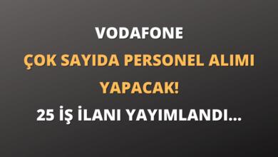 Vodafone Çok Sayıda Personel Alımı Yapacak! 25 İş İlanı Yayımlandı...