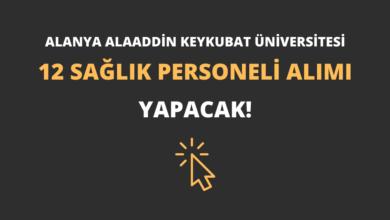 Alanya Alaaddin Keykubat Üniversitesi 12 Sağlık Personeli Alımı Yapacak!