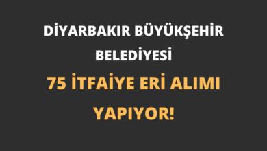 Diyarbakır Büyükşehir Belediyesi 75 İtfaiye Eri Alımı Yapıyor!