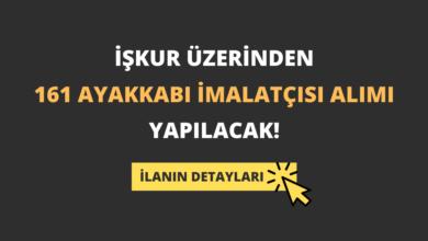 İŞKUR Üzerinden 161 Ayakkabı İmalatçısı Alımı Yapılacak!