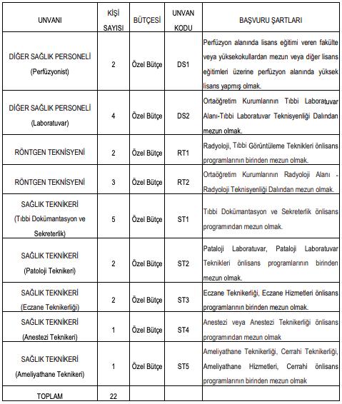 İstanbul Üniversitesi 22 Sağlık Personeli Alımı Detayları