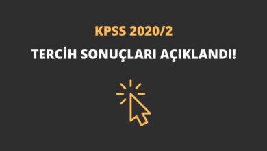 KPSS 2020/2 Tercih Sonuçları Açıklandı!
