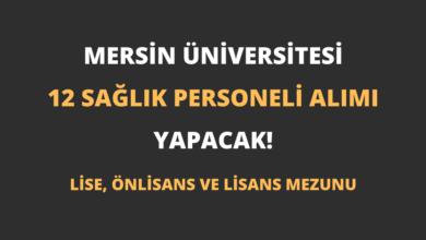 Mersin Üniversitesi 12 Sağlık Personeli Alımı Yapacak!