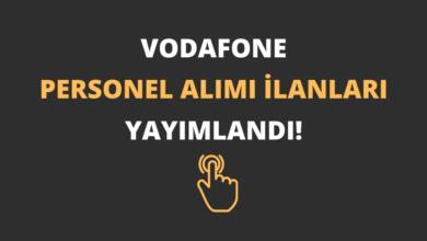 Vodafone Personel Alımı İlanları