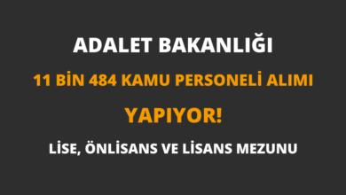Adalet Bakanlığı 11 Bin 484 Kamu Personeli Alımı Yapıyor!