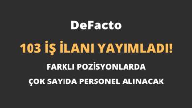 DeFacto 103 İş İlanı Yayımladı!