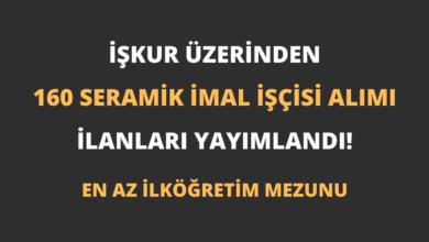 İŞKUR Üzerinden 160 Seramik İmal İşçisi Alımı İlanları Yayımlandı!