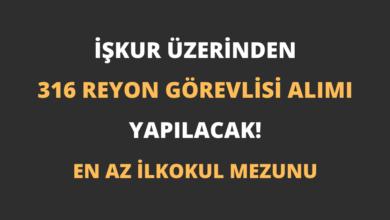 İŞKUR Üzerinden 316 Reyon Görevlisi Alımı Yapılacak!