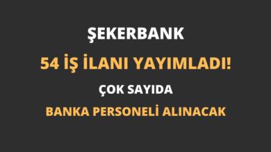 Şekerbank 54 İş İlanı Yayımladı!