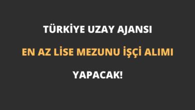 Türkiye Uzay Ajansı En Az Lise Mezunu İşçi Alımı Yapacak!