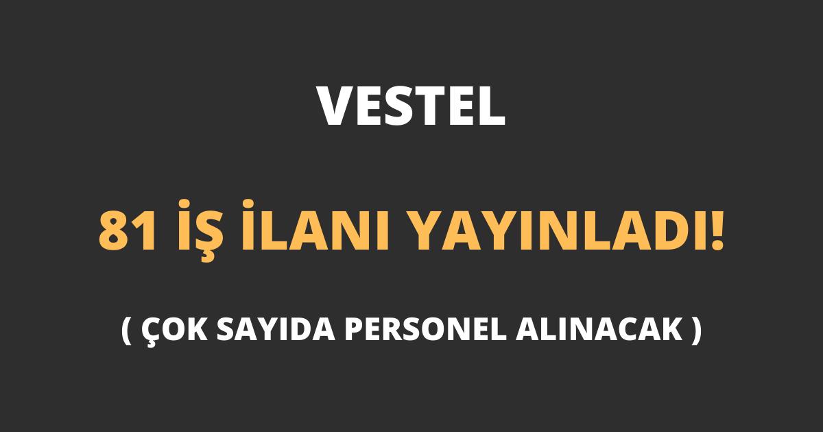 Vestel 81 İş İlanı Yayınladı!